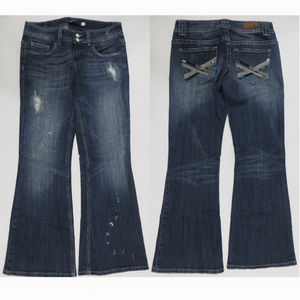 Vigoss jeans 7 The New York Flare distressed